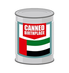 Canned birthplace Patriotic Preserved birthplace vector