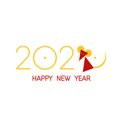 chinese happy new year 2020 rat symbol vector image