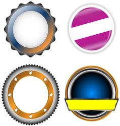 Circle form set vector image