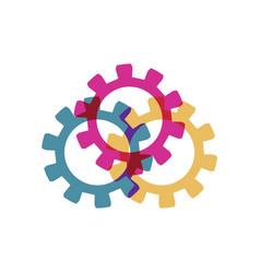cog wheels icons vector image