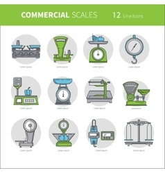 Commercial scales set vector