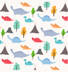 Dinosaur pattern background vector