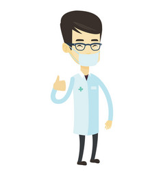 Doctor giving thumbs up vector