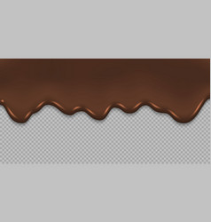 dripping melted chocolate background vector image