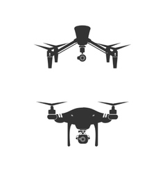 Drone Logo Design Icon Technology Camera vector image
