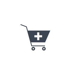 drugstore shopping related glyph icon vector image