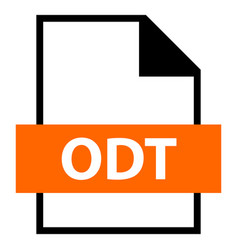 File name extension odt type vector