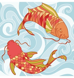 Fish card vector