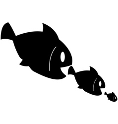 Fish eats fish vector