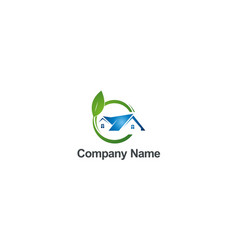 green house environment bio company logo vector image
