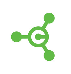 Green letter c hub logo or icon vector
