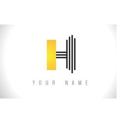 h black lines letter logo creative line letters vector image