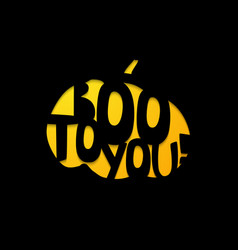 Halloween - boo to you laser cutting template vector