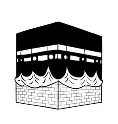 Hand drawing kaaba mecca vector