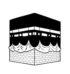 Hand drawing kaaba of mecca vector