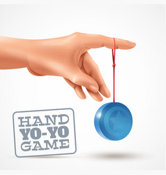 hand yoyo game background vector image