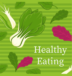 Healthy eating plant based dieting and nutrition vector