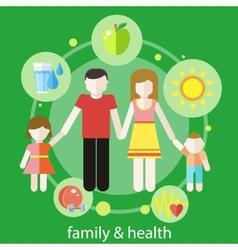 Healthy family concept vector