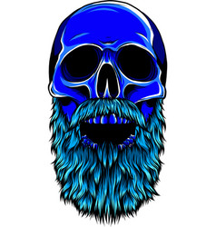 hipster skull with mustache vector image