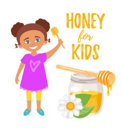 honey for kids vector image