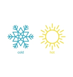 Hot and cold symbol vector image