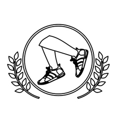 Isolater running shoes design vector