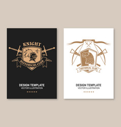 knight historical club flyer brochure banner vector image