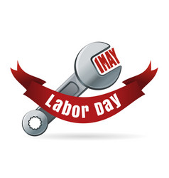 Labor day may 1 international workers day vector