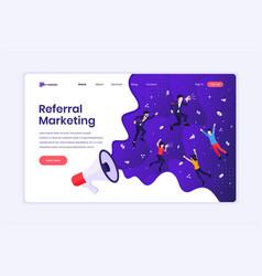 landing page design concept referral marketing vector image