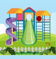 large playground park scene vector image