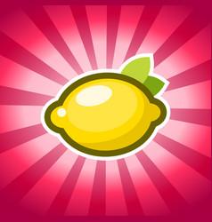 Lemon icon design vector