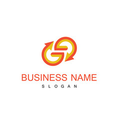 Letter g arrow business logo vector
