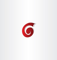 letter g or number 6 six logo vector image