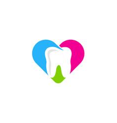 love dental logo icon design vector image
