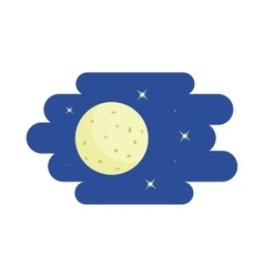 Moon and stars icon cartoon style vector image