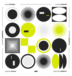 neomodern poster design layout with abstract vector image