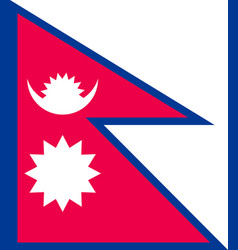 Nepal flag flat style vector