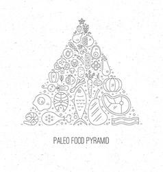 Paleo Pyramid vector