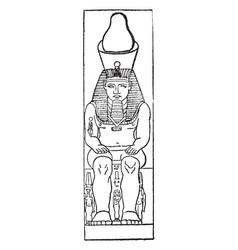 Ramses ii vintage vector