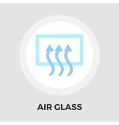 Rear window defrost flat icon vector