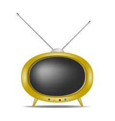Retro tv in orange design vector