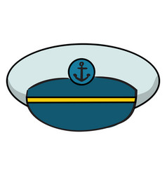 sailor cap on white background vector image