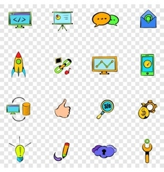 Seo set icons vector image