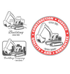 set of logos excavator vector image
