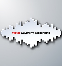 Silhouette of sound waveform with shadow vector