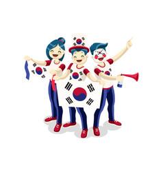 South korea flag korean people day vector