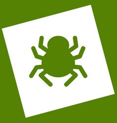 Spider sign white icon vector
