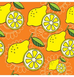 summer lemon vector image vector image