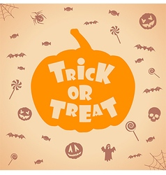 trick or treat halloween background vector image