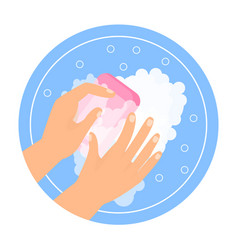washing hands concept vector image